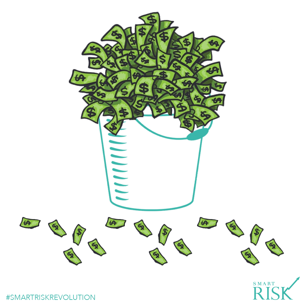 Leaky Bucket of Financial Assets