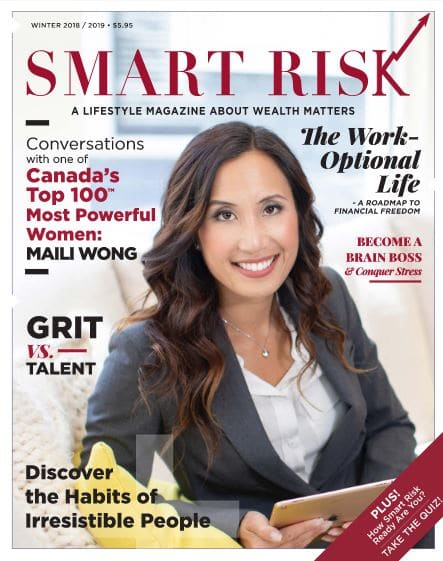 """Smart Risk Magazine, Volume 2, 2 Articles: Navigating Towards Your Work-Optional Life"""", """"Living the Work-Optional Life: Real Conversations with Maili Wong"""