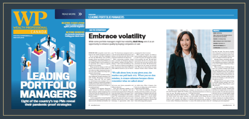 Wealth Professional Article featuring Maili Wong, CFA